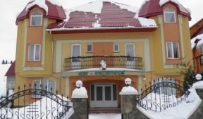 отель в снегу