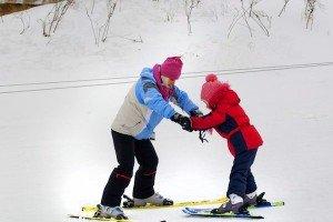обучение на лыжах